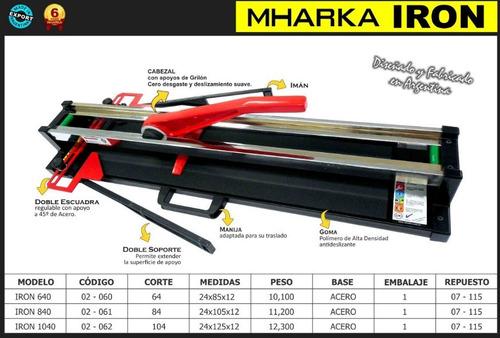 cortadora de ceramica mharka iron 840 84cm cuotas