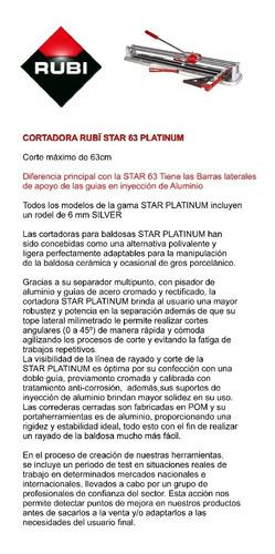 cortadora de cerámicas rubi star 63 platinum nuevo modelo
