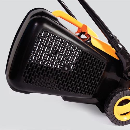 cortadora de cesped exahome 1300w 3 posiciones c/ canasto recolector