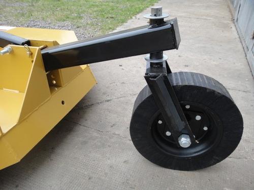 cortadora de cesped p/3 puntos con caja reforzada y rueda