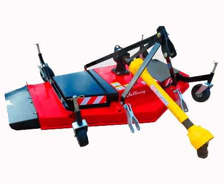 cortadora de cesped parquera bellmaq c/ruedas apoyo 1.80 mts