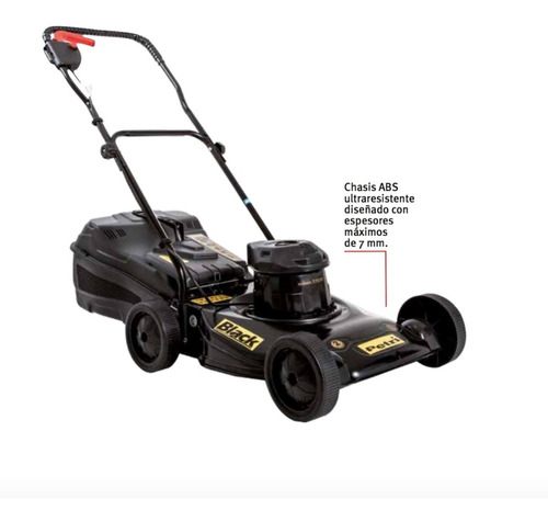 cortadora de cesped petri black 1/2 hp c/ bolsa 900w 3005050