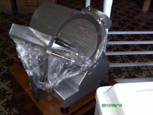 cortadora de fiambre comercial cuchilla 30 cms inox nueva