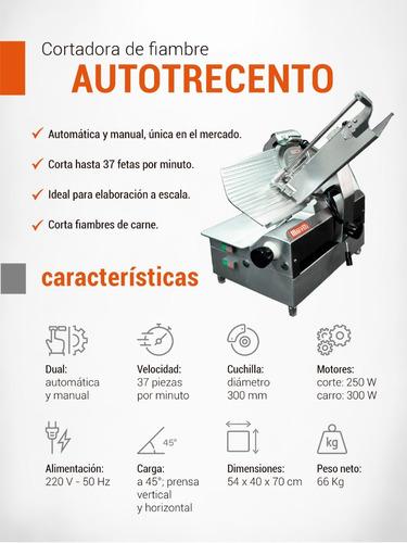 cortadora de fiambre moretti autotrecento 300 mm