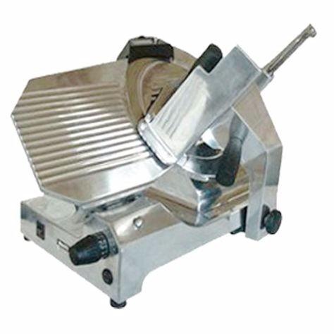 cortadora de fiambres platina 330 mm aluminio pulido nueva