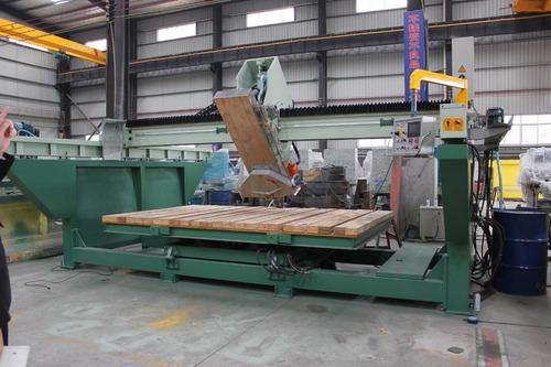 cortadora de granito puente automatica con banco revatible
