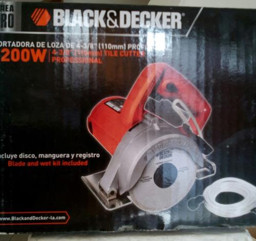 cortadora de loza. modelo black & decker