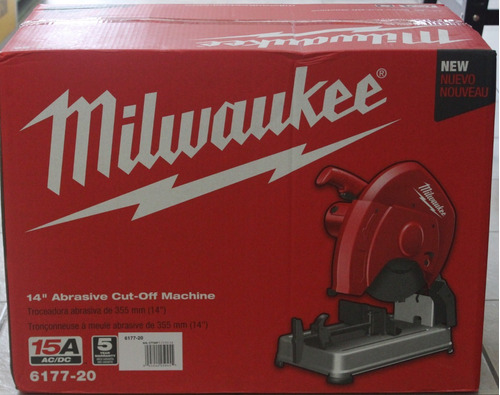 cortadora de metal milwaukee 6177-20