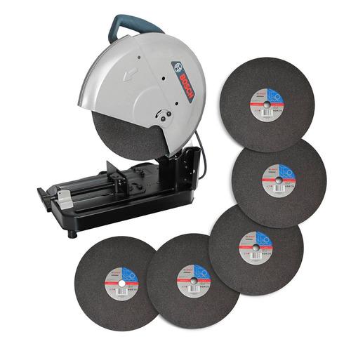 cortadora de metales gco 2000 de 14 bosch + 6 discos