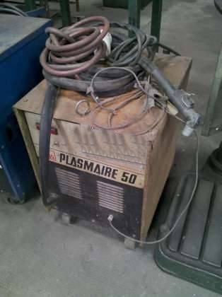 cortadora de metales x plasma aire 50 hasta 10mm,funcionando