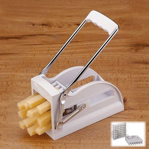 cortadora de papas y verduras en baston con 2 cuchillas
