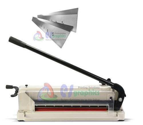 cortadora de papel guillotina profesional 44cm. 400 hojas.