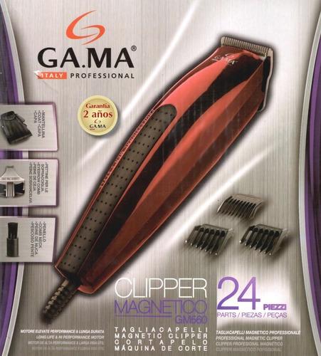 cortadora de pelo gama gm 560 24 piezas cepillo nuca y capa