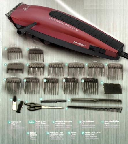 cortadora de pelo gama gm560 magnetic con cable 21 piezas