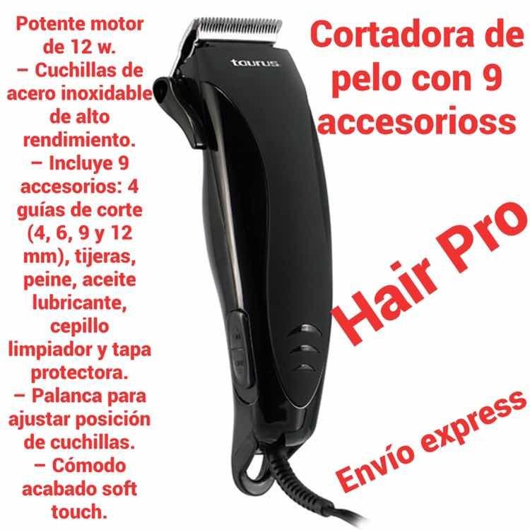 Cortadora De Pelo Taurus Hair Pro Con 9 Accesorioss -   280.00 en ... 953319b02e87
