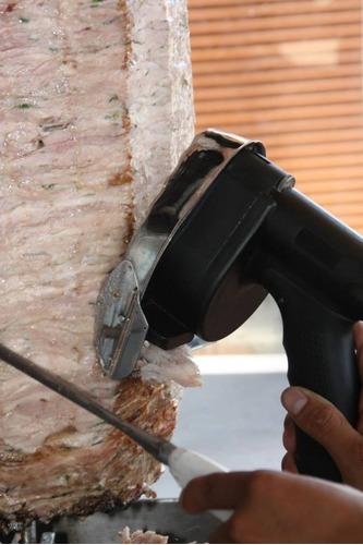 cortadora eléctrica p/ carne tacos de trompo árabes pastor