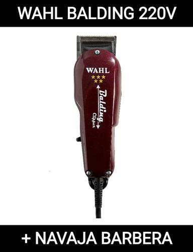 cortadora profesional wahl balding 220v + navaja de afeitar