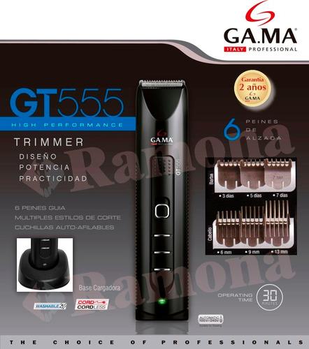 cortadora recortador barba gama gt555 trimmer inalambrico