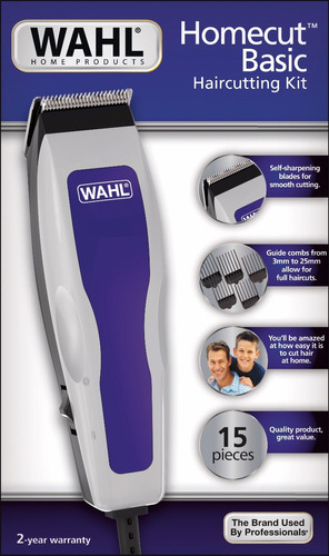 cortadora wahl home cut basic (15 piezas)