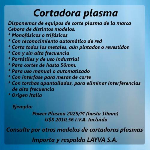 cortadoras plasma cebora layva