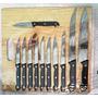 Set Juego Cuchillos De Mesa 12 Piezas Mas Tabla De Cortar