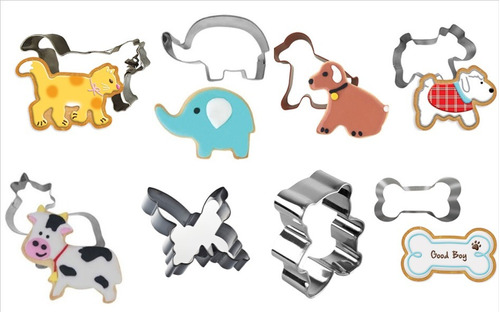 cortadores de galleta de animales. 1 pz