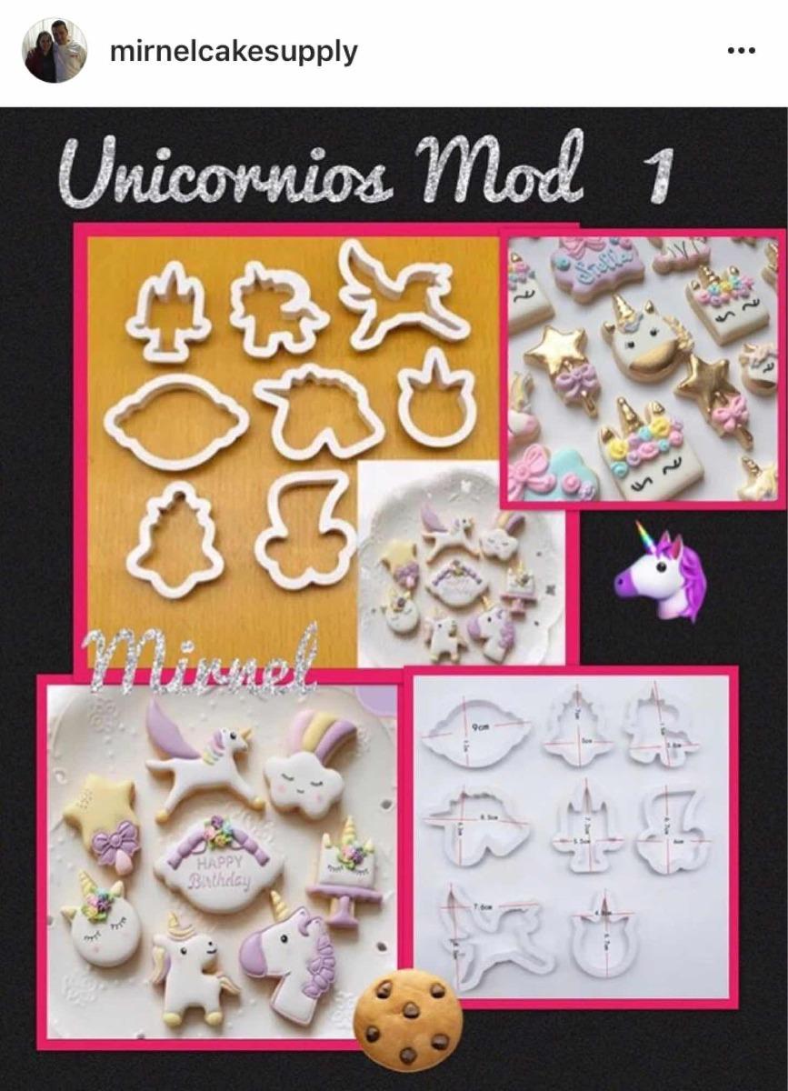 Cortadores Unicornios, Marcos, Letras, Silicon Repostería - Bs ...