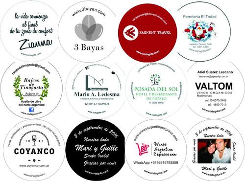 cortagota para vino  impresos personalizados imborrables