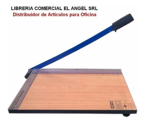 cortante guillotina a4  32cm base de madera - z2 cizalla
