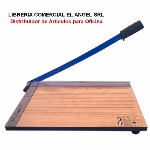 cortante guillotina oficio 40cm base de madera - z3 cizalla