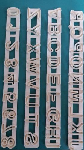 cortante letras numeros fondant porcelana fria reposteria