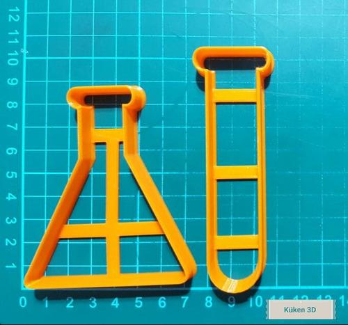 cortante quimica erlenmeyer tubo ensayo laboratorio ciencia