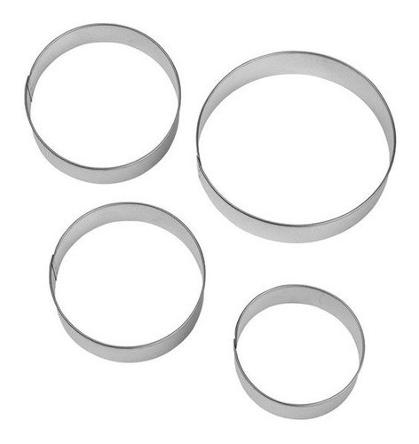 cortantes circulo liso de metal pack x 5 / lauacu