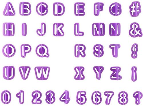 cortantes de letras abecedario números signos repostería