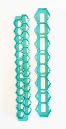 cortantes geometricos hexagono set x 2 tamaños - reposteria