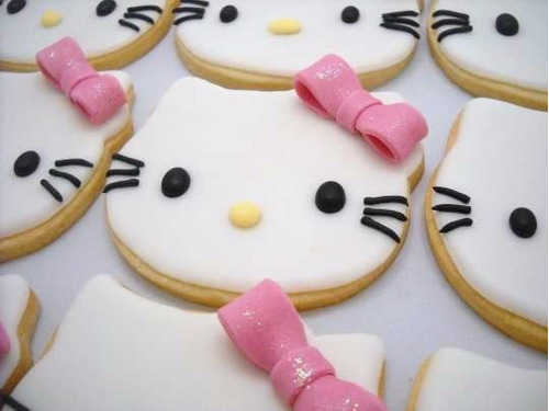 cortantes kitty gatita galletitas fondant porcelana fria
