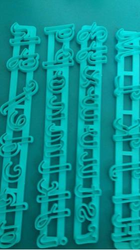 cortantes letras y numeros set completo! porcelana fria