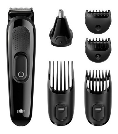 cortapelo cortabarba braun mgk3020 6 en 1 trimming kit