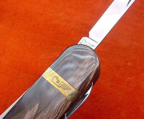 cortaplumas acero oro 3 accesorios adler messer inox germany