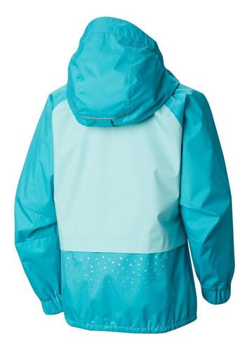cortaviento splash s'more rain jacket verde columbia