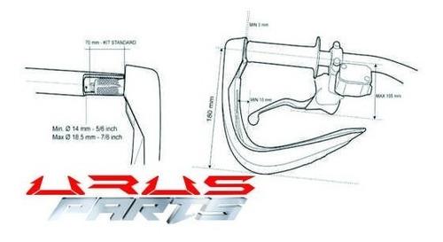 cortavientos hand saver led universales para moto part