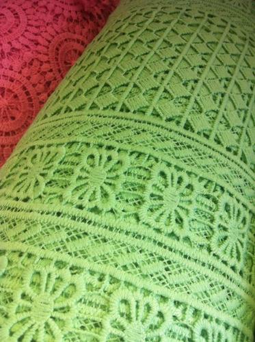 corte 3 metros de  renda guipir verde vestidos muito linda