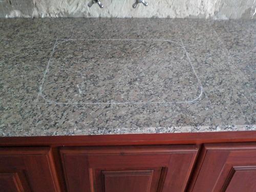 corte de marmol y granito a domicilio. pegado de bachas.