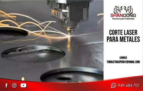 corte láser en acero, servicio corte en diversos materiales