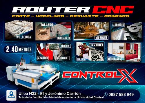 corte laser y router cnc industrial 240x120cm