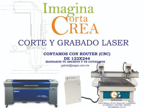 corte y grabado en laser router  cnc y fibra optica