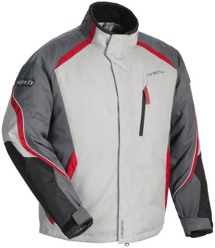 cortech viaje 3.1 motos de nieve chaqueta de la plata/del me
