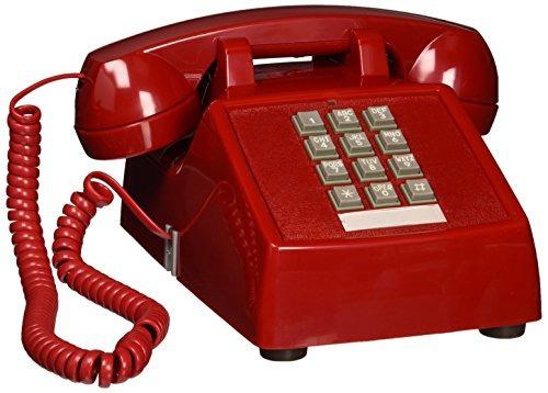 cortelco itt-2500-v-rd na teléfono fijo de 1 teléfono