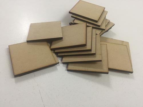 cortes cuadrados fibrofacil 3mm souvenir 5x5 250 unidades
