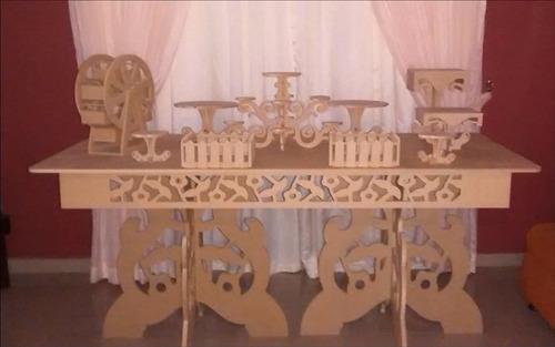 cortes y tallados. mobiliario candy bar y bazar